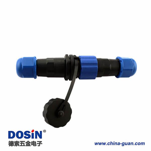 SP17电缆防水航空插头9P对接连接器