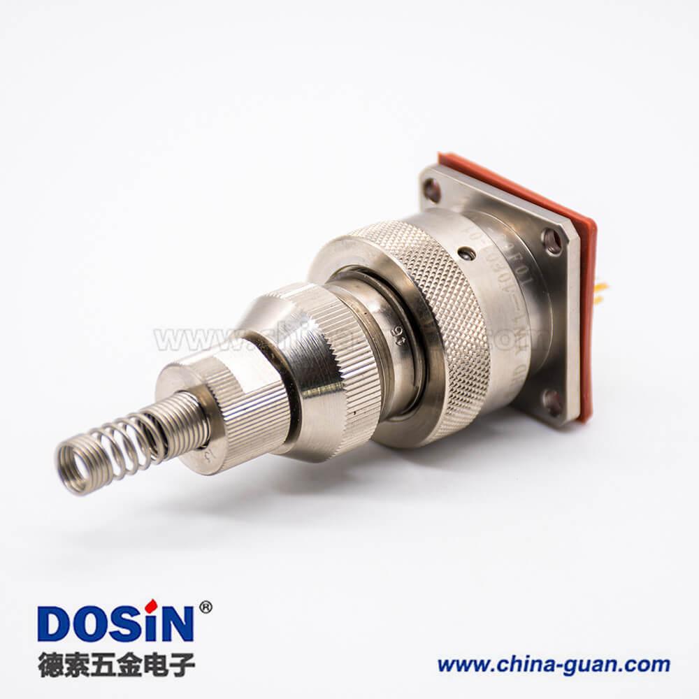 YW圆形连接器RJ-45内置接口类型卡口连接公母对接插头接线焊接插座面板安装焊接