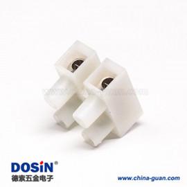贯通端子台H型4孔焊接白色接线式端子连接器
