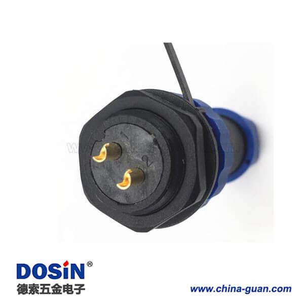 SP2110 9芯航空插头圆形连接器 开孔21mm 防水 IP68