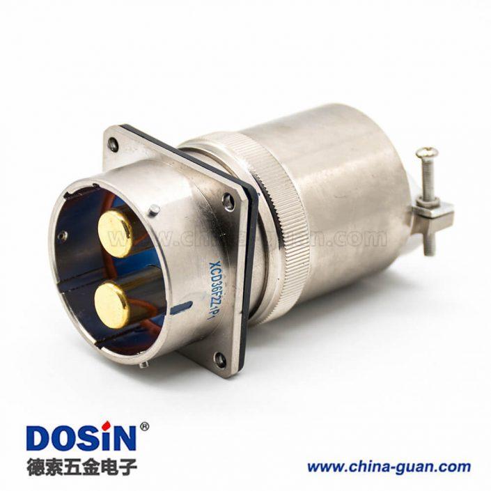 XCD电连接器36壳体2芯卡口连接接线母插头焊接公插头焊杯直式公母对接一套