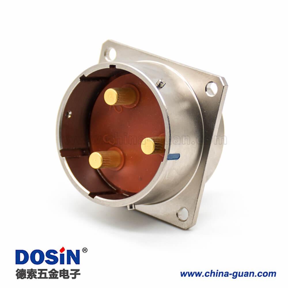 XCD系列电连接器36壳体3芯接线卡口连接插座焊杯4孔法兰插头焊接直式公母对接一套