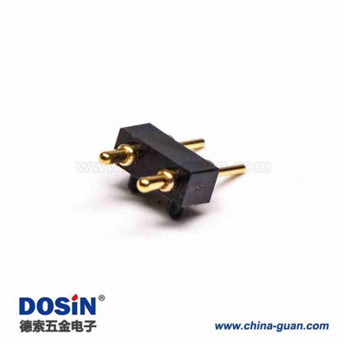 Pogo Pin探针式2芯插入焊接式连接器3.5MM单排多Pin系列P型