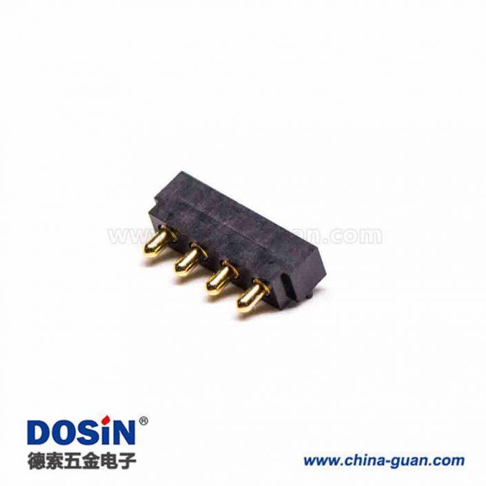 Pogo Pin连接器F型平放式焊接4芯间距2.5MM多Pin系列