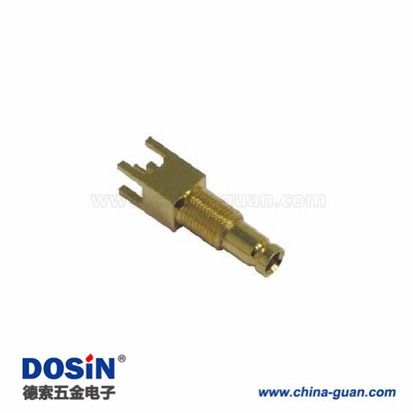 1.0 / 2.3连接器母直75Ω焊接端接通孔