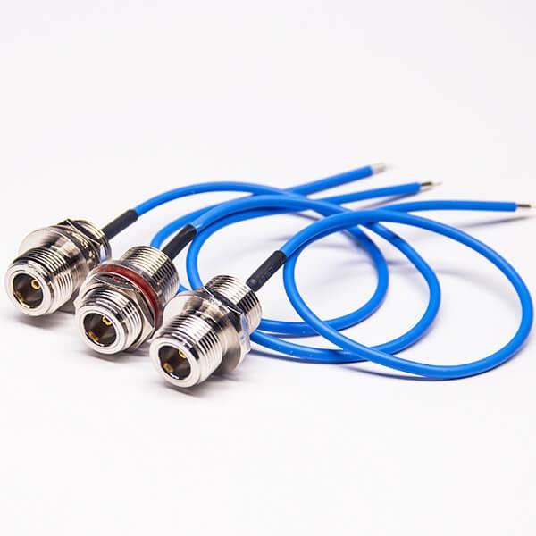 N头连接器母头前锁板接 RG405线30CM