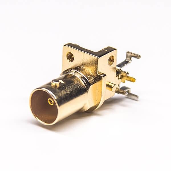PCB的BNC接口母头弯式插板式镀金75Ohm