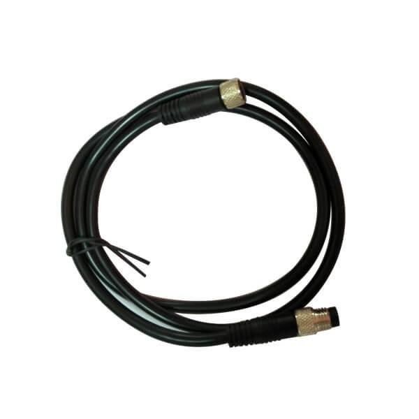 M8电缆插头注塑成型式直式4芯公插头转母插头接1米24AWG线