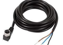 SVL M8连接器注塑成型90度弯角3芯母插头接1米PUR 24AWG屏蔽线