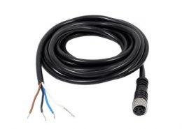 M8连接器直头公头注塑成型线4芯母头连线1米24AWGPUR