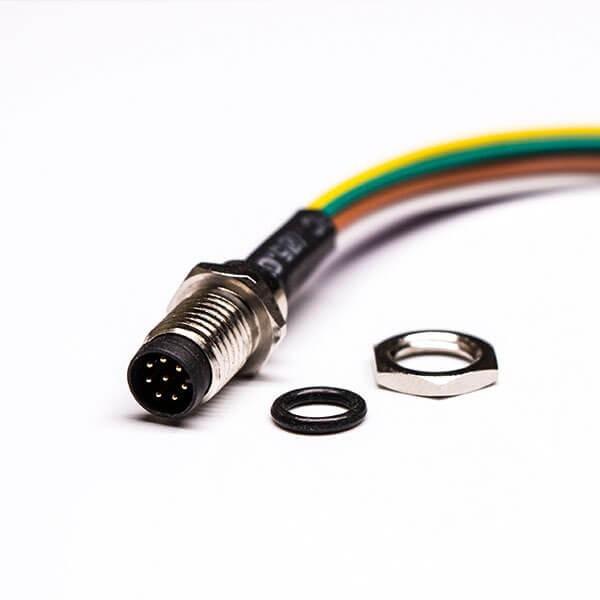 M88芯航空插座防水前锁直式焊线式A型公航空插座接50CM 26AWG线