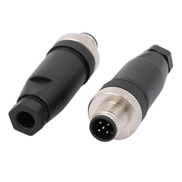 M12现场组装插头A编码5芯公直式不带屏蔽塑料外壳PG7厂家