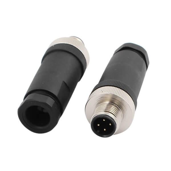 M12现场组装插头A编码4芯公直式不带屏蔽塑料外壳PG7厂商