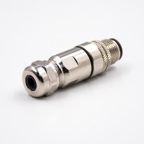 M12现场组装插头A编码5芯公直式带屏蔽金属外壳厂商