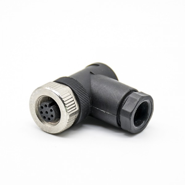 M12现场组装插头A编码8芯母弯式不带屏蔽塑料外壳PG9采购