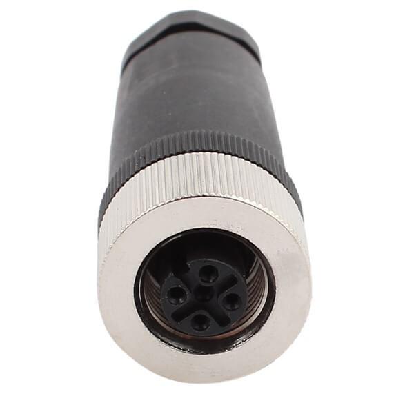 M12现场组装插头A编码5芯母直式不带屏蔽塑料外壳PG9厂商