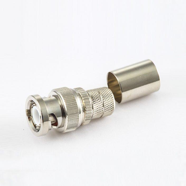 接线BNC接地连接器直型面板安装后锁穿墙焊接