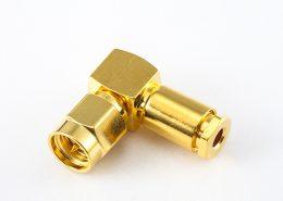 SMA公头RG58 弯式夹l螺母锁紧用于RG58 / RG142 / SYV50-3