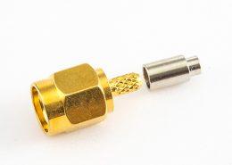 用于RG178 / 1.45MM接线连接器SMA压接公头直式