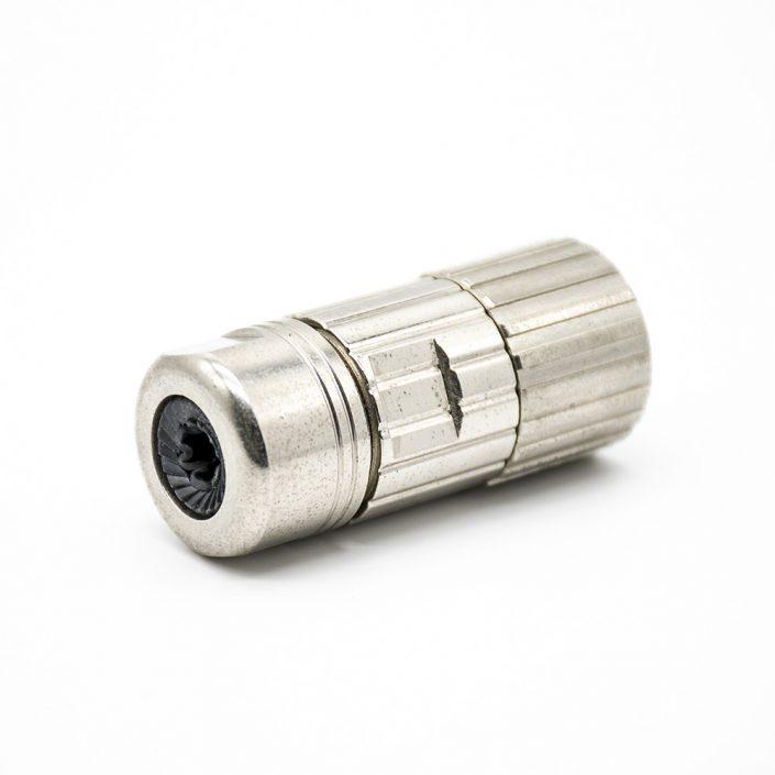 安费诺M23连接器直式母头焊线式连接器