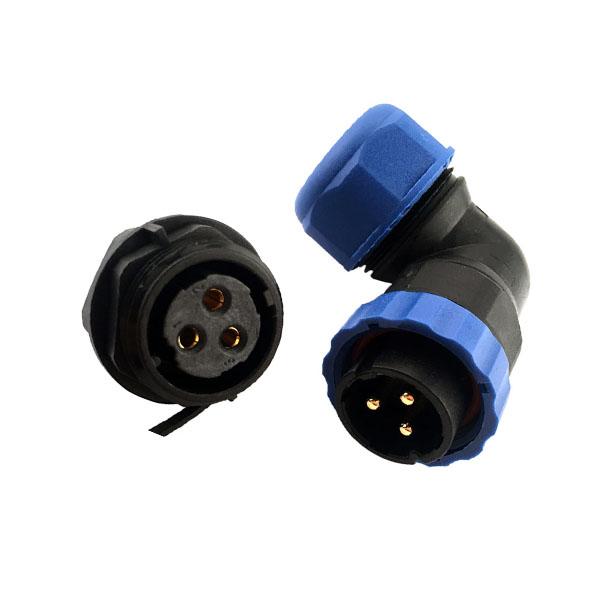 SP21防水航空插头 3芯 航空接头塑料