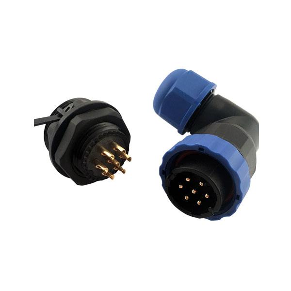 防水航空插头连接器 SP21 7芯 线缆连接