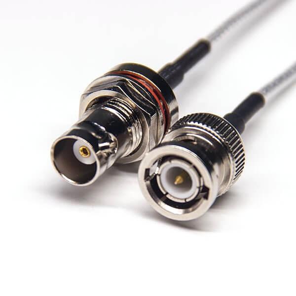 BNC公头直式转BNC母头直式防水式同轴线缆接RG316
