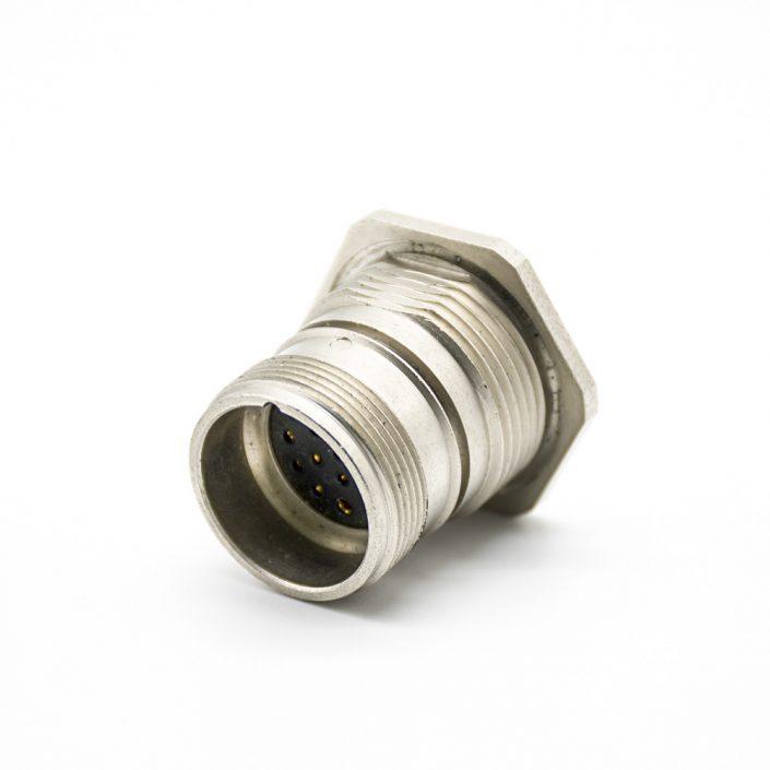 M23母插头17芯直式接线焊线连接器