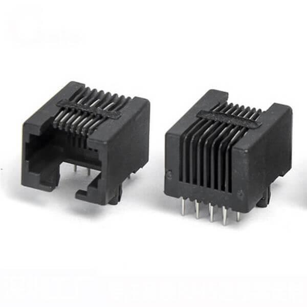 RJ45网络插接口8P8C-90度黑色耐高温网络插座