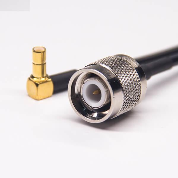 smb母头公针弯式射频线RG174接TNC直式公头